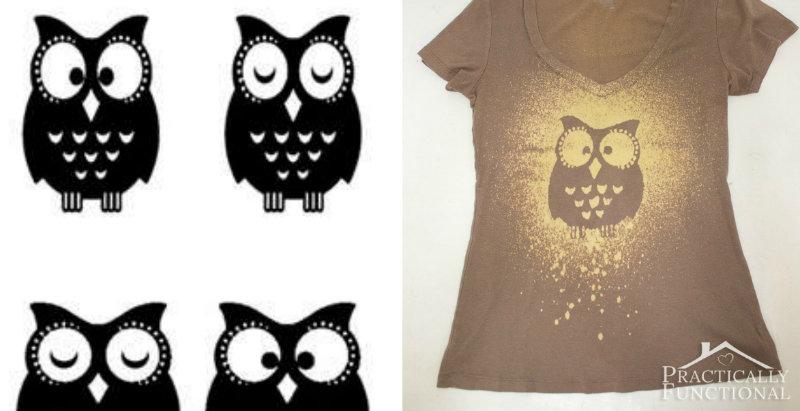 How to make bleach spray shirt diy crafts handimania for How to bleach designs into shirts