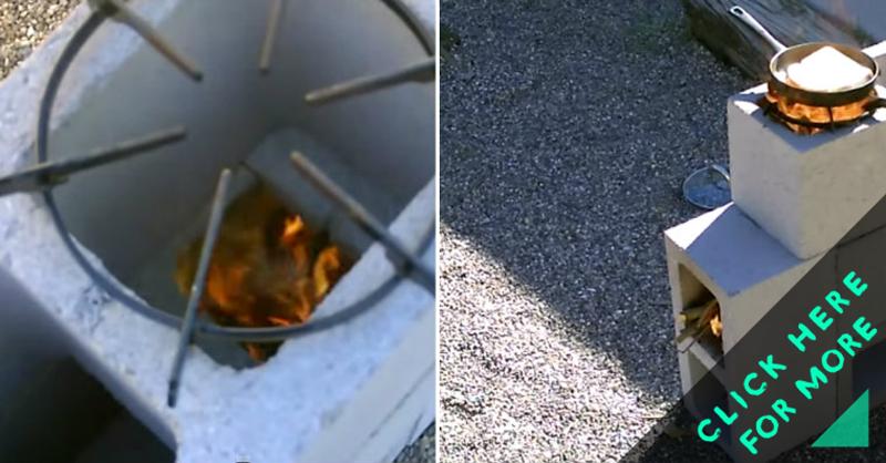 How to make blocks rocket stove diy crafts handimania for 4 block rocket stove