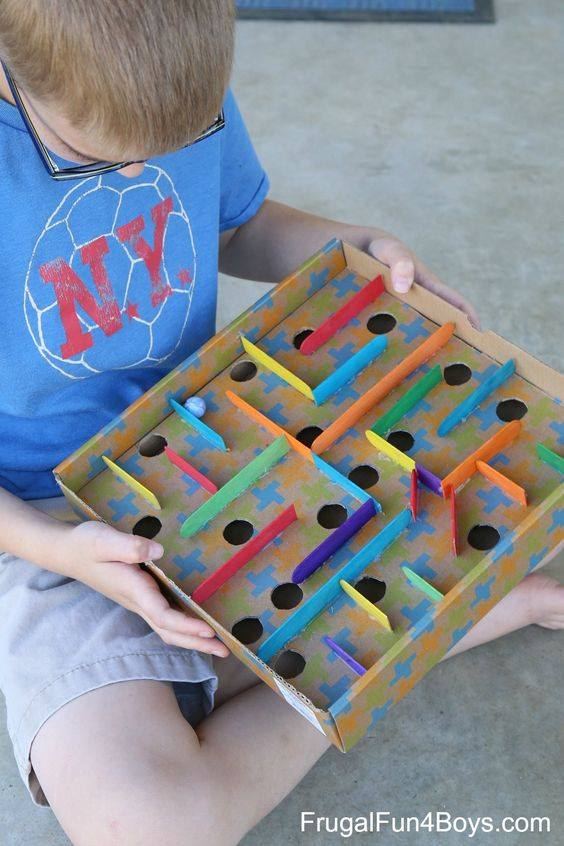 23 Toys Made of Cardboard Boxes. Kids Love Them!