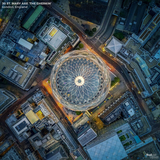 A Bird's Eye View of 6 Famous Structures. Amazing Monuments Seen from an Unusual Angle