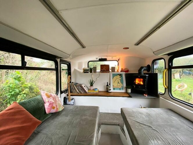 A Couple Converted an Old Double-Decker Into a House