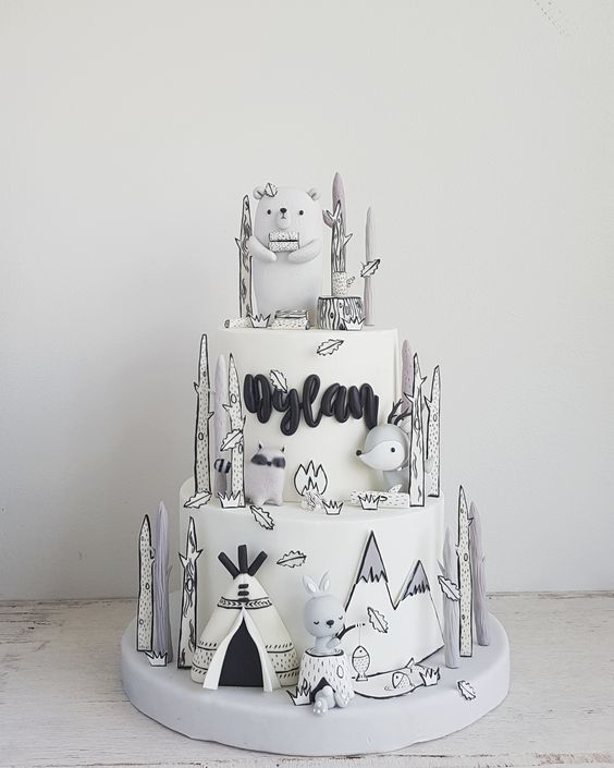 19 Black and White Cakes That Look as if They Had Been Drawn. This Must Call for a Great Deal of Talent!