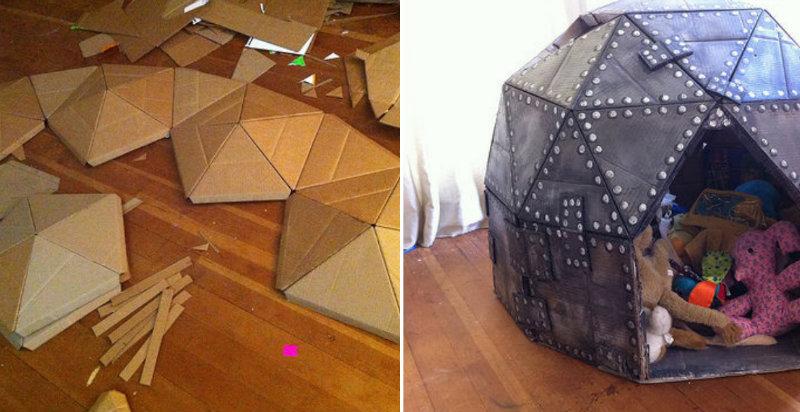 How To Make Cardboard Play Dome Diy Amp Crafts Handimania