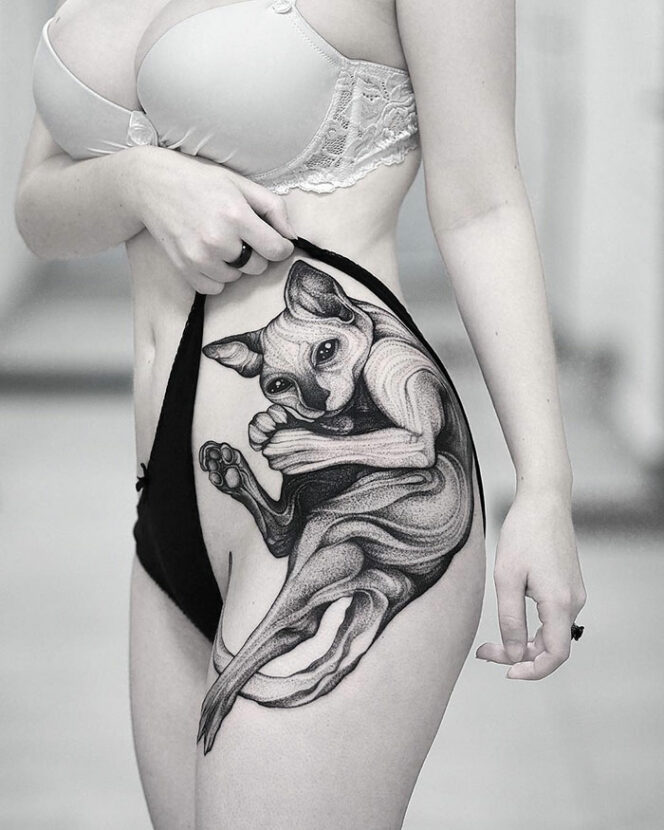 32 Stunningly Original Tattoos. And It's All About Cats…