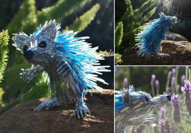 20 Stunning Sculptures Made of Old CDs. They Look as If They Were from Another Dimension