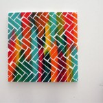 Chevron Pattern Taped Canvas