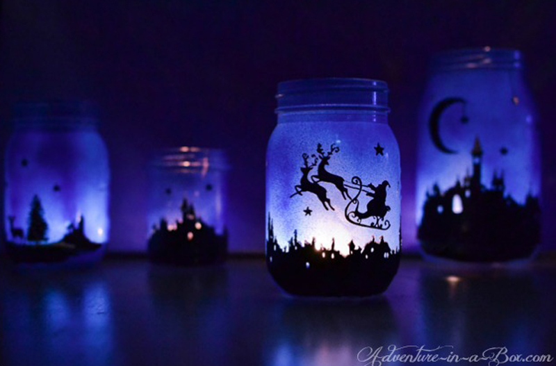 Image Result For Blue Mason Jar Lanterns
