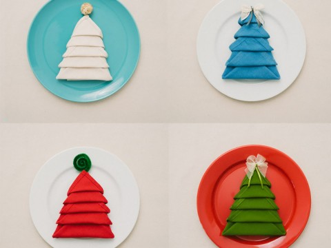 How to Make Christmas Tree Napkin Fold - All Steps - DIY & Crafts -  Handimania - How To Make Christmas Tree Napkin Fold - All Steps - DIY & Crafts