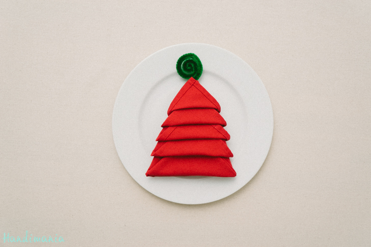 how to make christmas tree napkin fold diy crafts