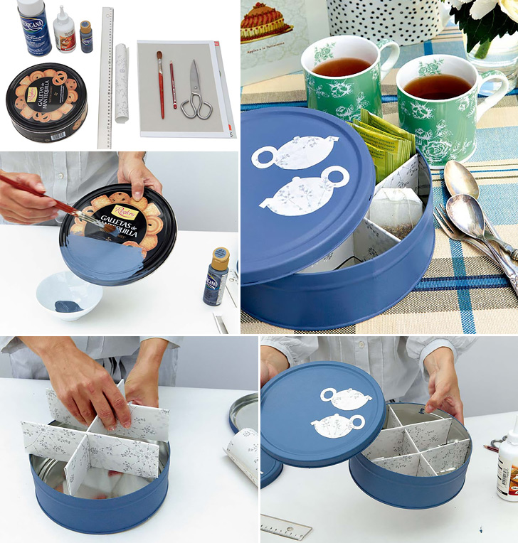 Cookie-Tin Box for Tea Bags