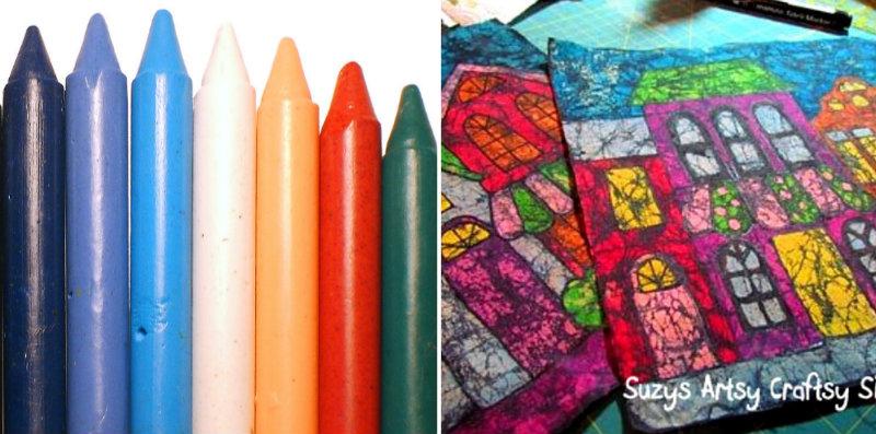 How To Make Crayon Batik Fabric Diy Amp Crafts Handimania