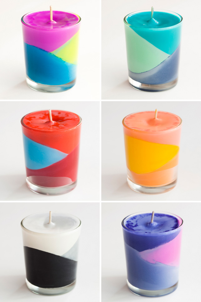 Crayons Color Block Candles