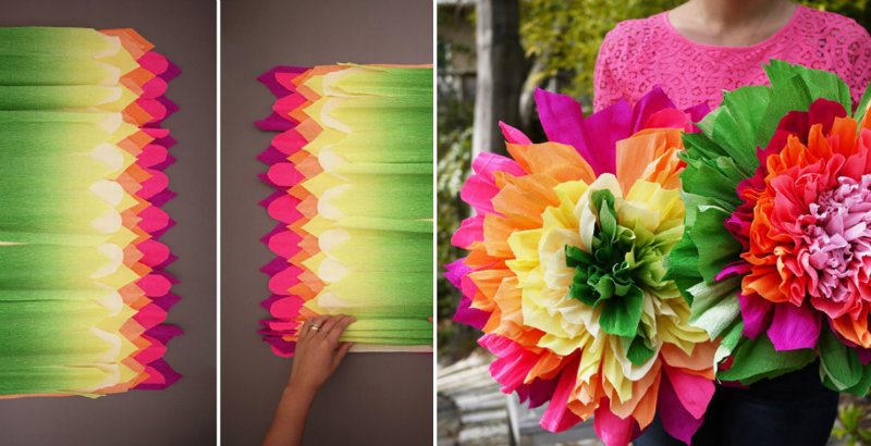 How To Make Crepe Paper Flowers Diy Amp Crafts Handimania