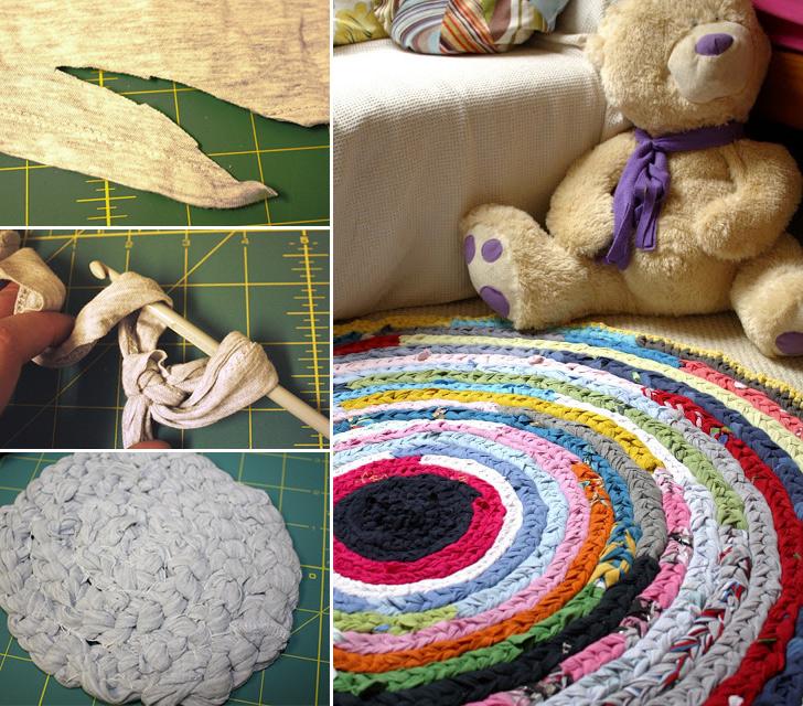 Crocheting Rag Rug Instructions : How to Make Crochet Rag Rug - Crochet - Handimania