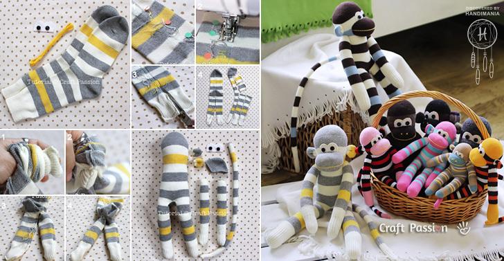 How To Make Cute Sock Monkey Sew Handimania