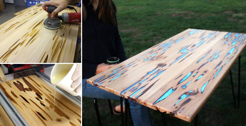 How to make cypress glowing table diy crafts handimania for Glow in the dark table