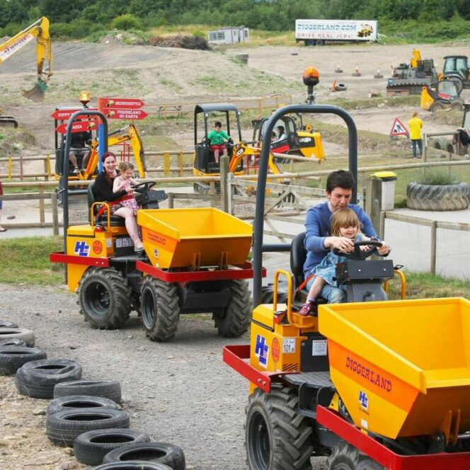 Become Bob the Builder for a Moment. Drive an Excavator in a Unique Theme Park