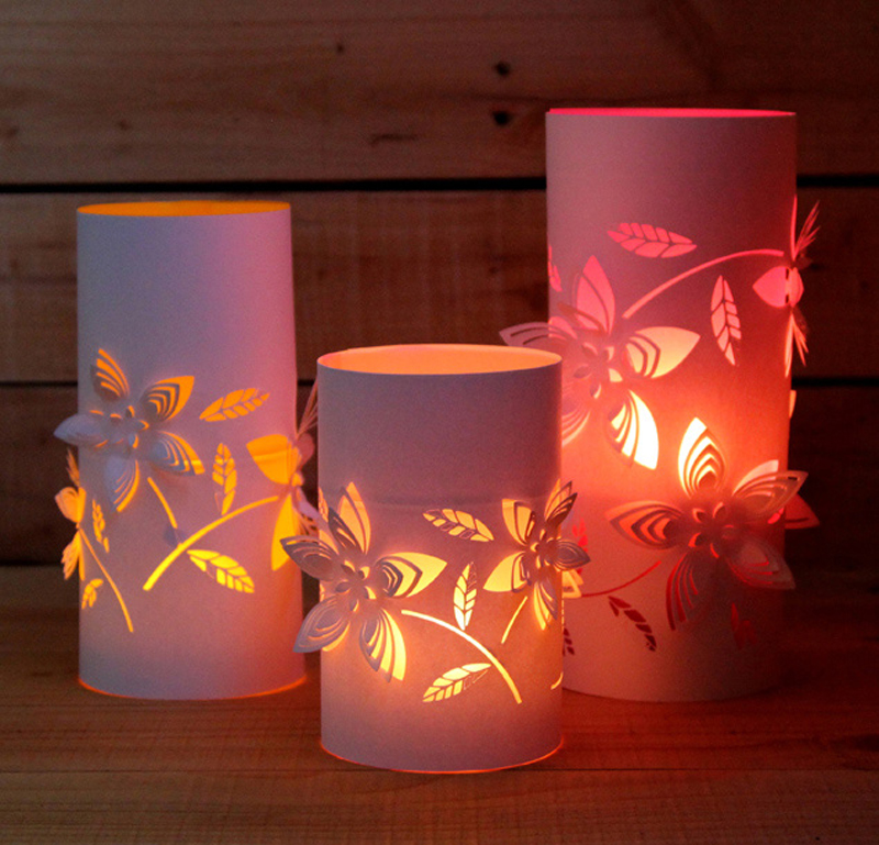 How to make dimensional paper lanterns diy amp crafts handimania