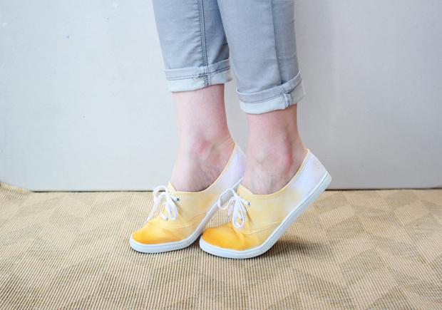 Dip-Dyed Sneakers