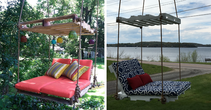How To Make Pallet Hanging Lounge Swing Craftspiration