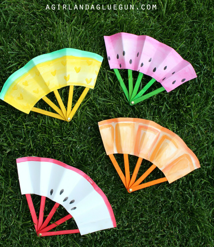 How To Make Paper Fruit Fan Diy Amp Crafts Handimania