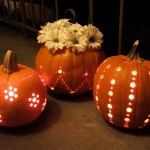 Drill Carved Halloween Pumpkins