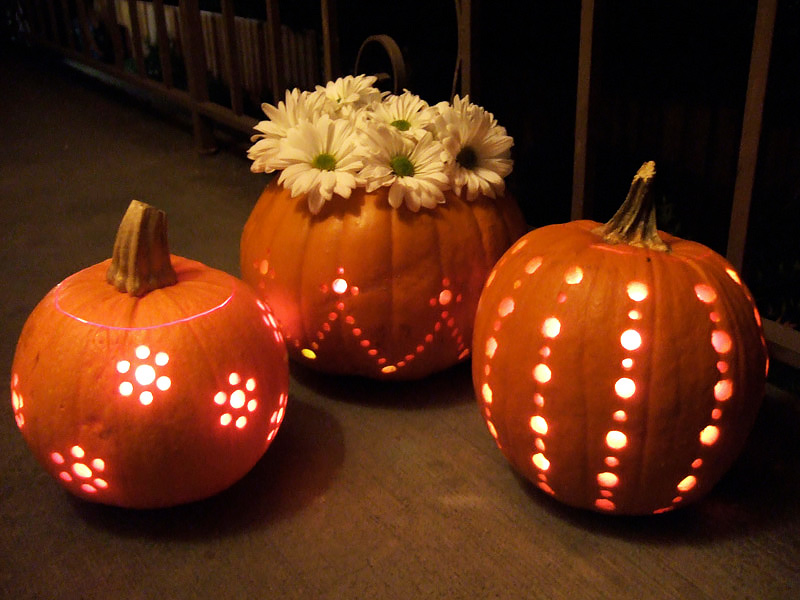 How to Make Drill Carved Halloween Pumpkins - DIY & Crafts ...