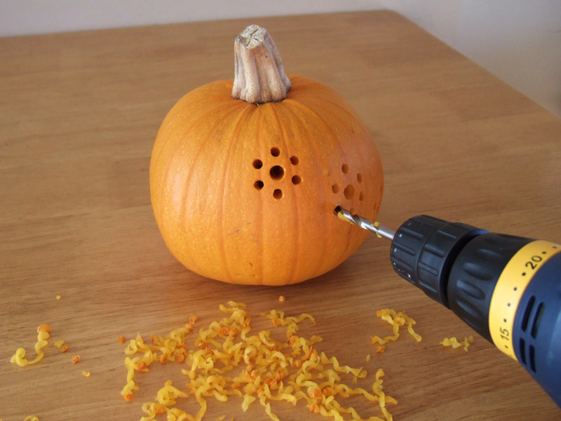 How to make drill carved halloween pumpkins diy crafts