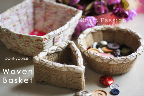 How To Make A Weave A Basket : How to make easy weave basket diy crafts handimania