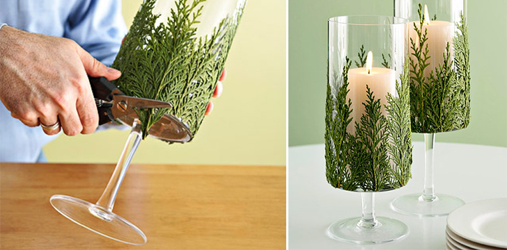 How To Make Evergreen Candle Holder DIY amp Crafts