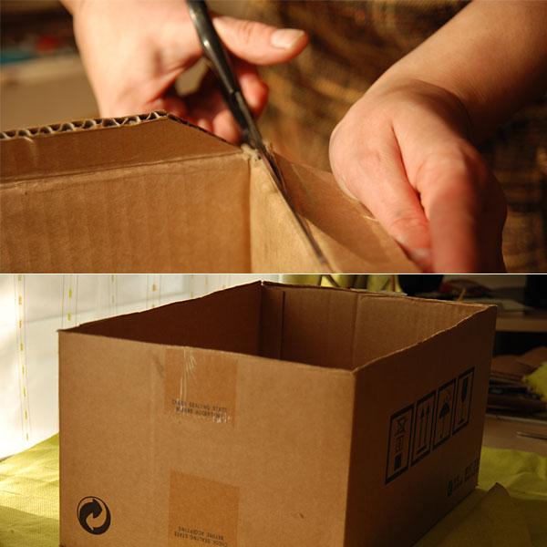 Fabric Covered Cardboard Storage Box 01