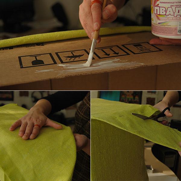 Fabric Covered Cardboard Storage Box 04