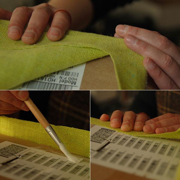 Fabric Covered Cardboard Storage Box 05