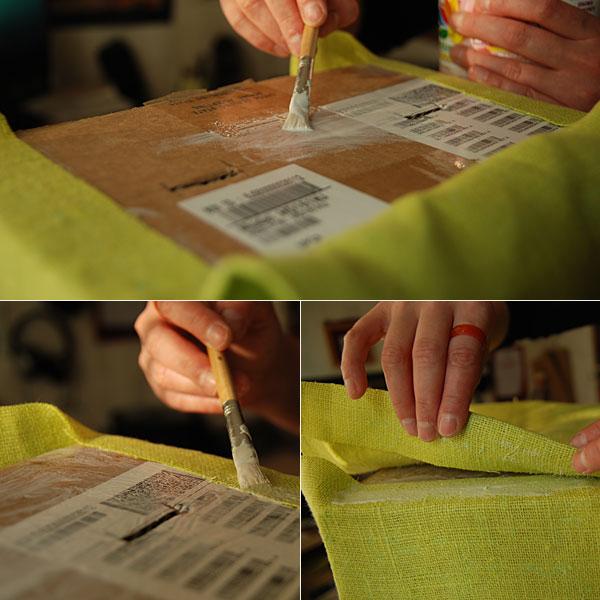 Fabric Covered Cardboard Storage Box 06