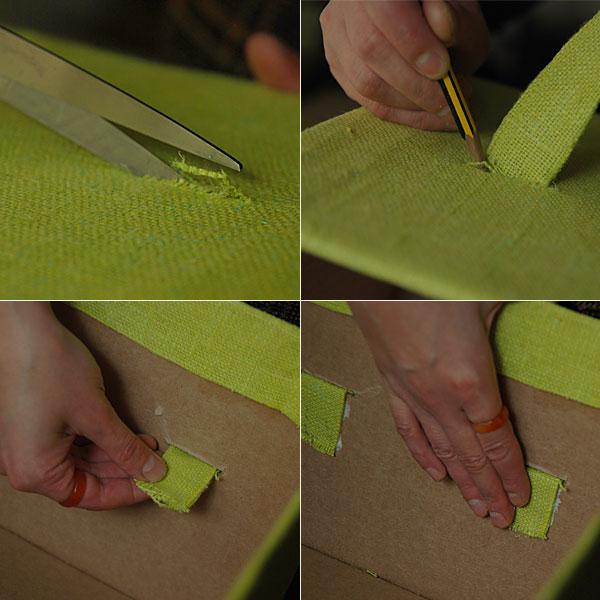 Fabric Covered Cardboard Storage Box 08