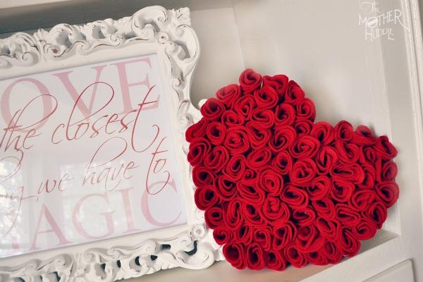 felt rose heart fi