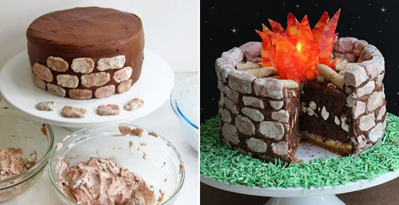 How To Make Fire Pit S Mores Cake Cooking Handimania