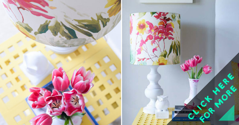 How to make floral lampshade diy crafts handimania mozeypictures Gallery