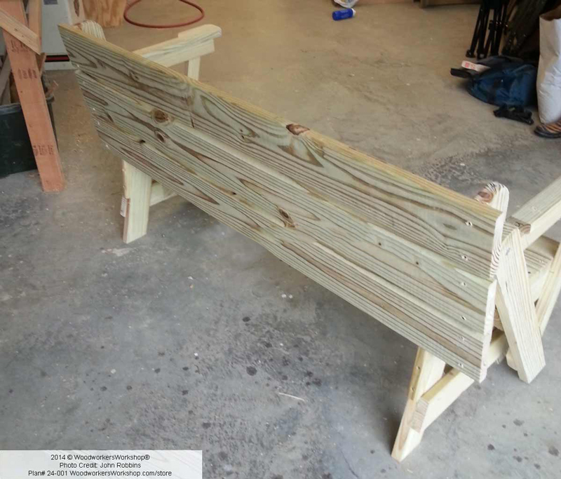 How to Make Folding Bench and Picnic Table Combo - DIY ...