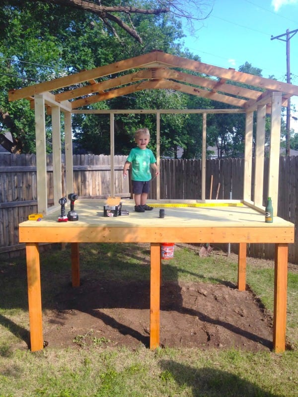 A Man Puts Four Beams on the Ground. and Builds Something Amazing for His 2-Year-Old Son!