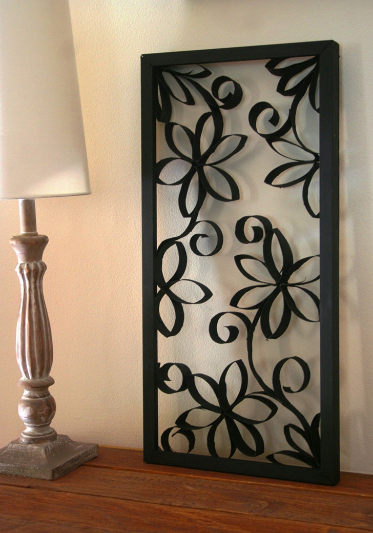 Framed Paper Rolls Flower Decoration