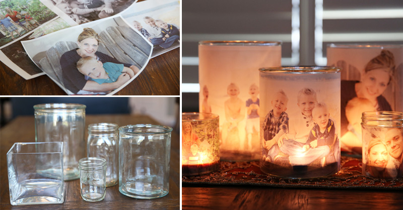 how to make glowing photo luminaries diy crafts handimania. Black Bedroom Furniture Sets. Home Design Ideas