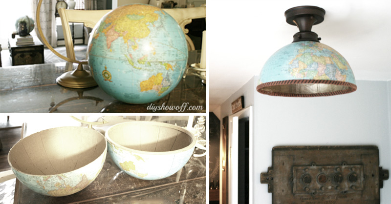 How To Make Half Globe Lampshade Diy Amp Crafts Handimania