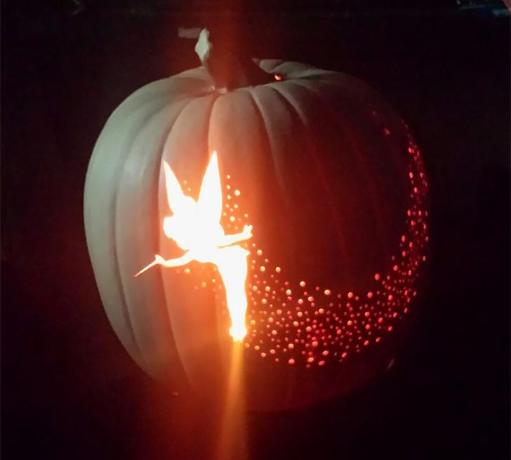Halloween Tinker Bell Pumpkin
