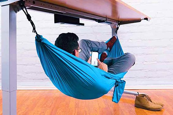 Thanks to This Hammock Every Single Break in the Office Can Be Much More Relaxing Than a Nap on the Couch