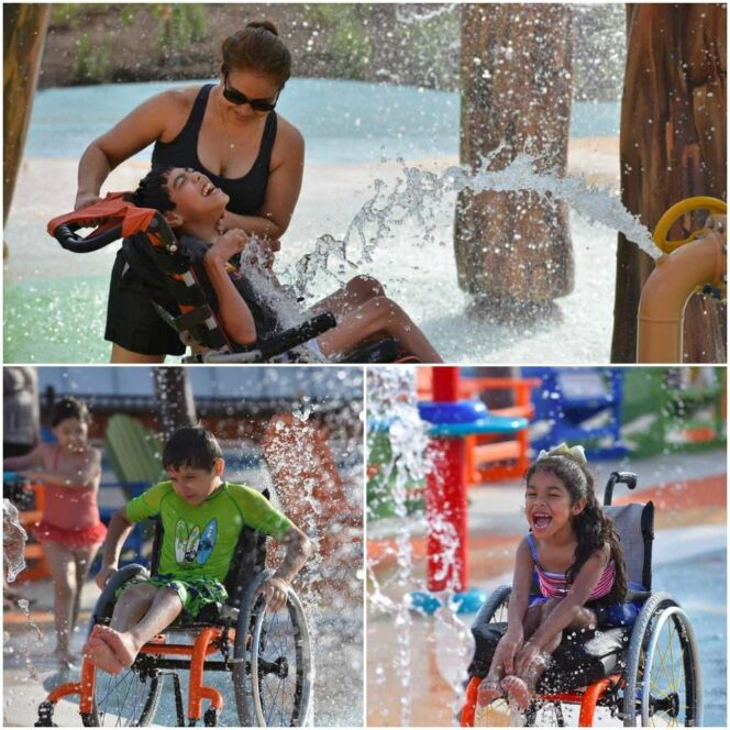 The Only Water Park of Its Kind in the World. A Paradise Island without Any Barriers and Obstacles for the Disabled