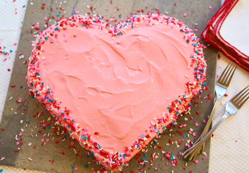 Heart-shaped Cake