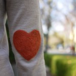 Heart Shaped Elbow Patch