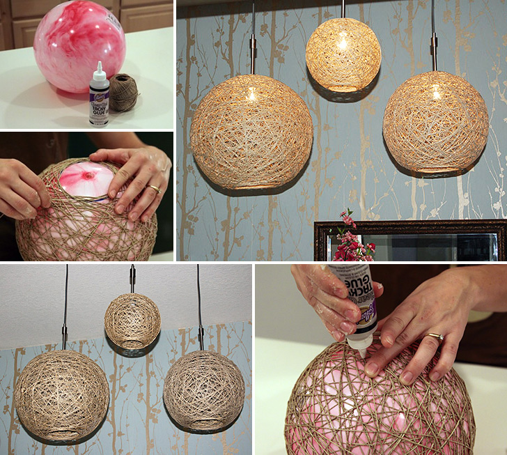 How To Make Hemp Twine Ball Lamp Diy Crafts Handimania