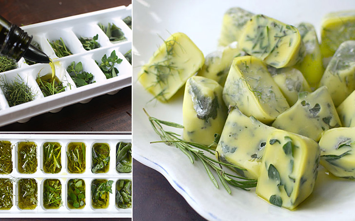 Herbs Frozen in Olive Oil